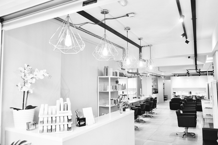 Batik hair salon interior mirrors