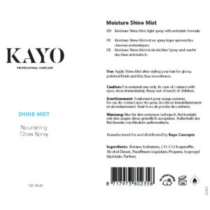Kayo Moisture Shine Mist