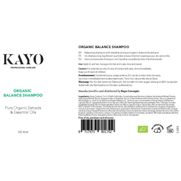 Kayo Organic Balance Shampoo