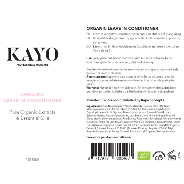 Kayo Organic Leave In Conditioner