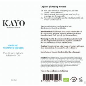 Kayo Organic Plumping Mousse
