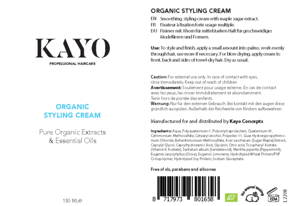 Kayo Organic Styling Cream