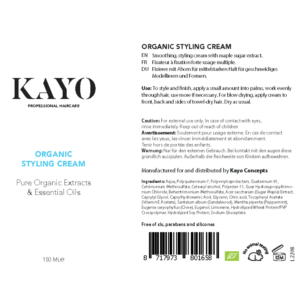 Kayo Organic Styling Cream