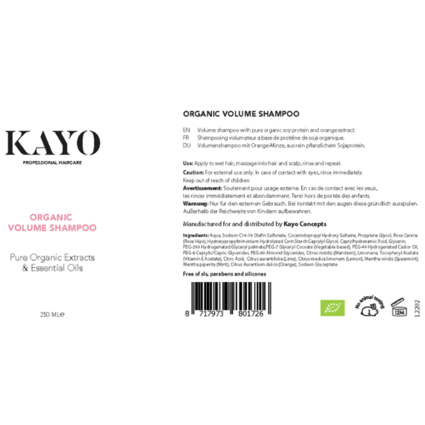Kayo Organic Volume Shampoo